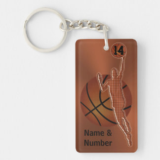 Retro Vintage Basketball Keychains Personalized