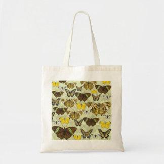 Retro Vintage Butterflies Pattern Tote Bag