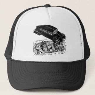 Retro Vintage Car 30's Rear-Engine Futuristic Auto Trucker Hat