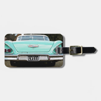 Retro vintage car luggage tag