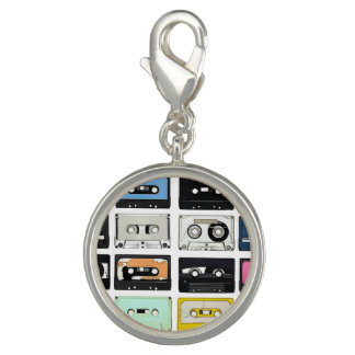 Retro vintage Cassette Mix Tapes art pattern Charm
