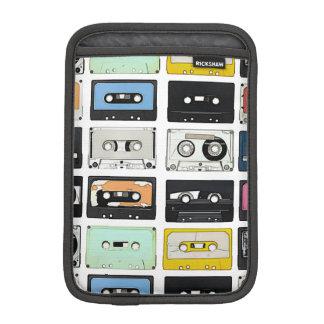 Retro vintage Cassette Mix Tapes art pattern iPad Mini Sleeve