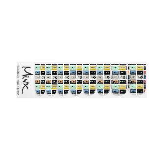 Retro vintage Cassette Mix Tapes art pattern Minx Nail Art