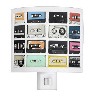 Retro vintage Cassette Mix Tapes art pattern Nite Lights