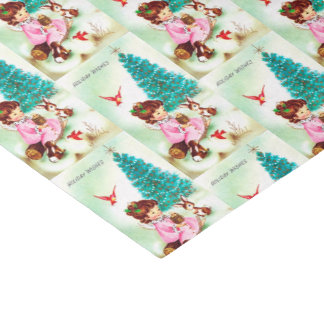 retro Vintage Christmas Angel Holiday tissue Tissue Paper
