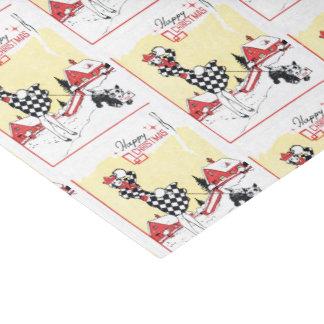 Retro Vintage Christmas lady party tissue Tissue Paper