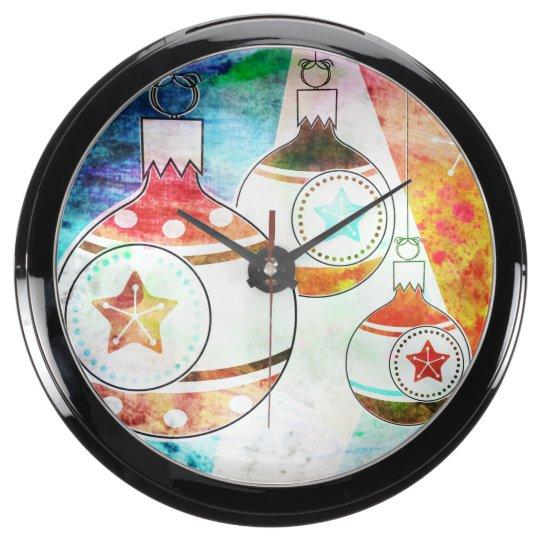 Retro Vintage Christmas Ornaments Aquarium Clock