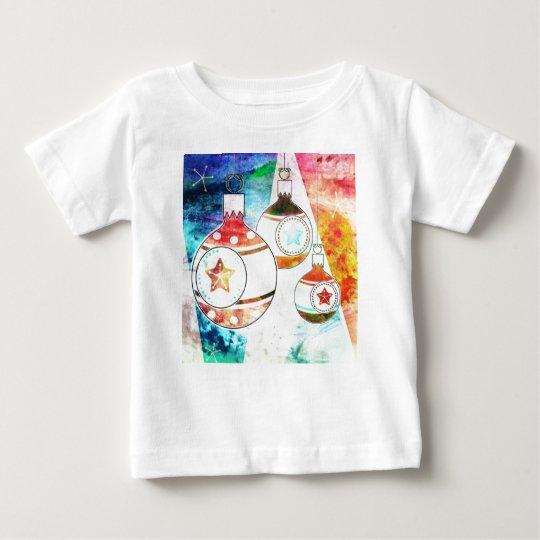 Retro Vintage Christmas Ornaments Baby T-Shirt