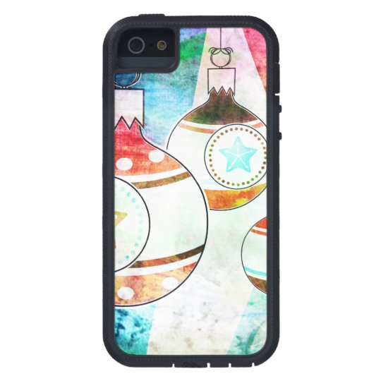 Retro Vintage Christmas Ornaments Case For The iPhone 5