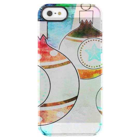 Retro Vintage Christmas Ornaments Clear iPhone SE/5/5s Case