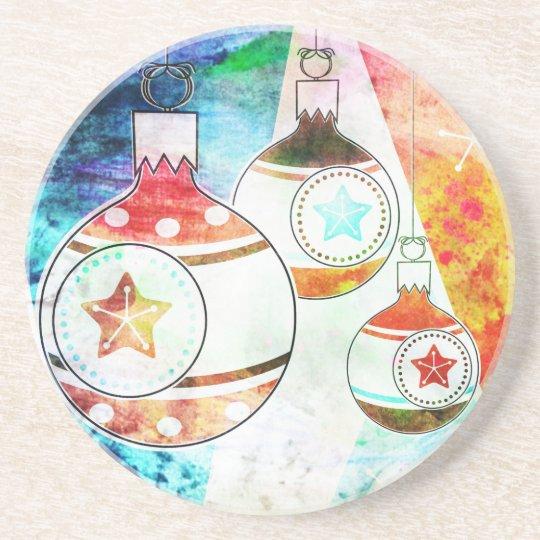 Retro Vintage Christmas Ornaments Coaster