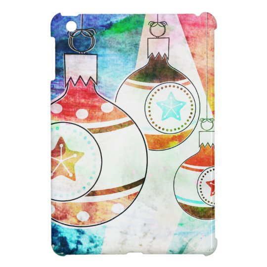Retro Vintage Christmas Ornaments Cover For The iPad Mini