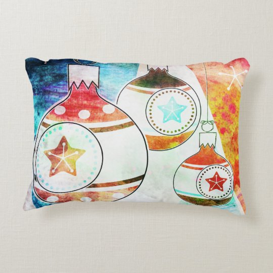 Retro Vintage Christmas Ornaments Decorative Pillow