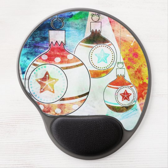 Retro Vintage Christmas Ornaments Gel Mouse Pad