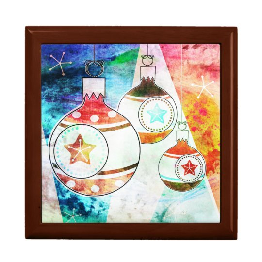 Retro Vintage Christmas Ornaments Gift Box