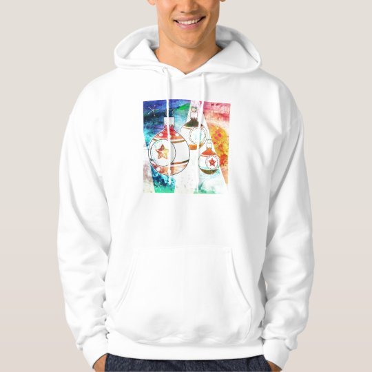 Retro Vintage Christmas Ornaments Hoodie