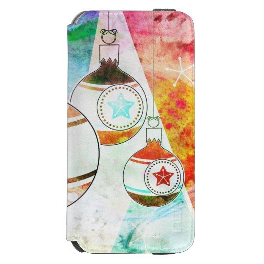 Retro Vintage Christmas Ornaments Incipio Watson™ iPhone 6 Wallet Case