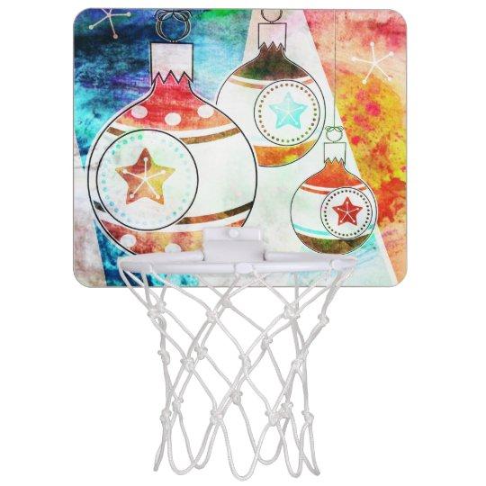 Retro Vintage Christmas Ornaments Mini Basketball Hoop