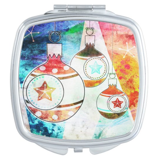 Retro Vintage Christmas Ornaments Mirrors For Makeup