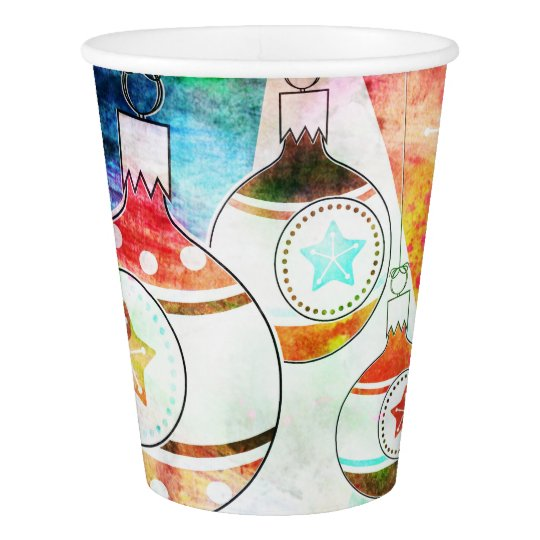Retro Vintage Christmas Ornaments Paper Cup