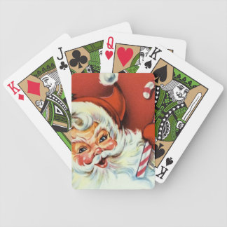 Retro Vintage Christmas Santa Holiday playing card