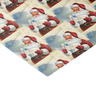 Retro Vintage Christmas Santa Holiday tissue Tissue Paper
