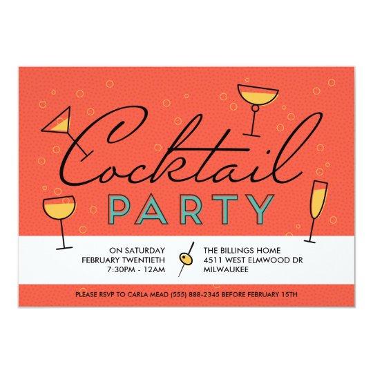 Retro Vintage Cocktail Party Invitation