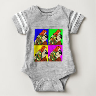 retro vintage comic baby bodysuit