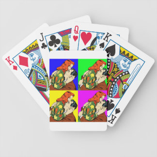 retro vintage comic poker deck