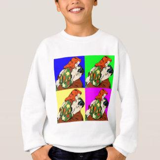 retro vintage comic sweatshirt