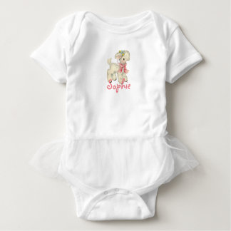 Retro/Vintage Easter Lamb Baby Bodysuit