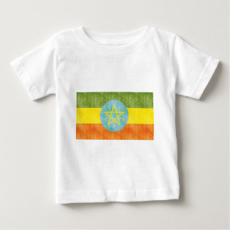 Retro Vintage Ethiopia Flag Baby T-Shirt