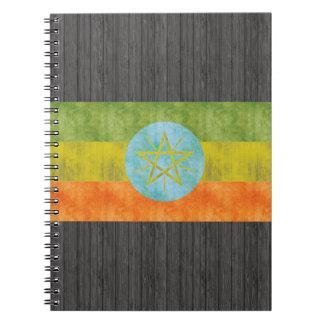 Retro Vintage Ethiopia Flag Spiral Note Book