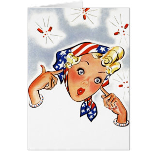 Retro Vintage Firecrackers Cute Blank Note Card