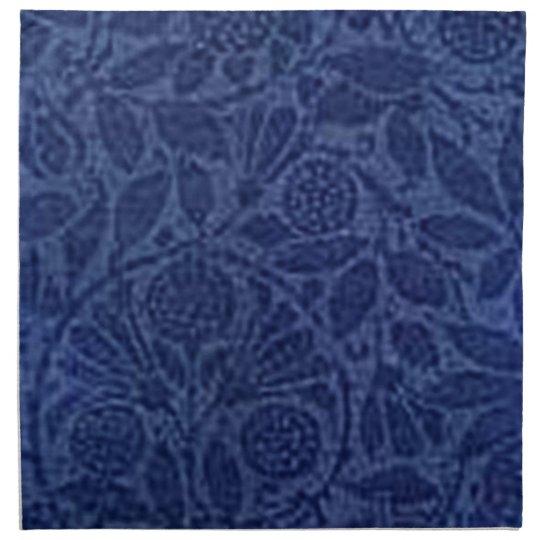 Retro Vintage Floral Blue Napkin