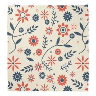 Retro Vintage Floral Flower Seamless Pattern Bandannas