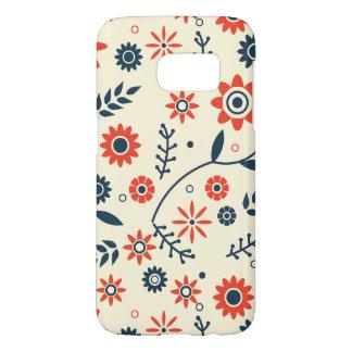Retro Vintage Floral Flower Seamless Pattern Samsung Galaxy S7 Case