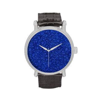 Retro Vintage Floral Sapphire Blue Flowers Watches