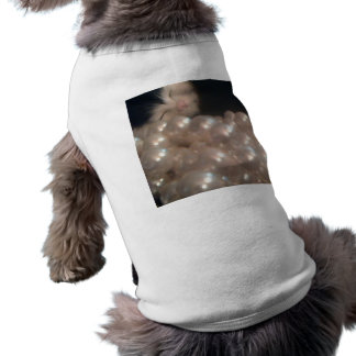 Retro Vintage Fur Kitten Antique Pearls Dog Shirt