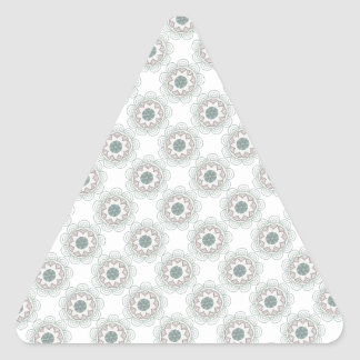 Retro Vintage Geometric Pattern - Personalize Triangle Sticker