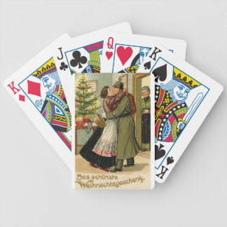 Retro Vintage German Soldier Christmas Bicycle Playing Cards