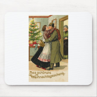 Retro Vintage German Soldier Christmas Mouse Pad