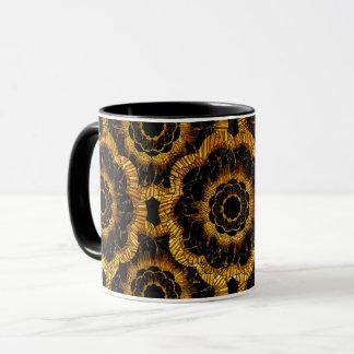 Retro Vintage Gold Floral Mod Flower pattern Mug