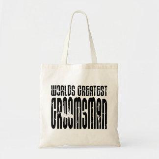 Retro Vintage Groomsmen World s Greatest Groomsman Canvas Bag