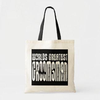 Retro Vintage Groomsmen World s Greatest Groomsman Tote Bags