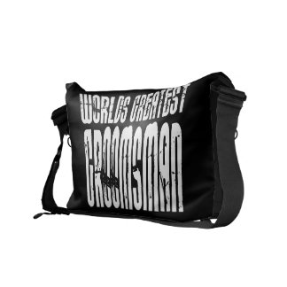 Retro Vintage Groomsmen World s Greatest Groomsman Commuter Bags