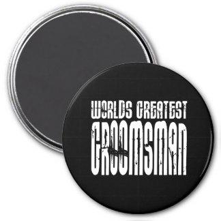 Retro Vintage Groomsmen World's Greatest Groomsman Fridge Magnet