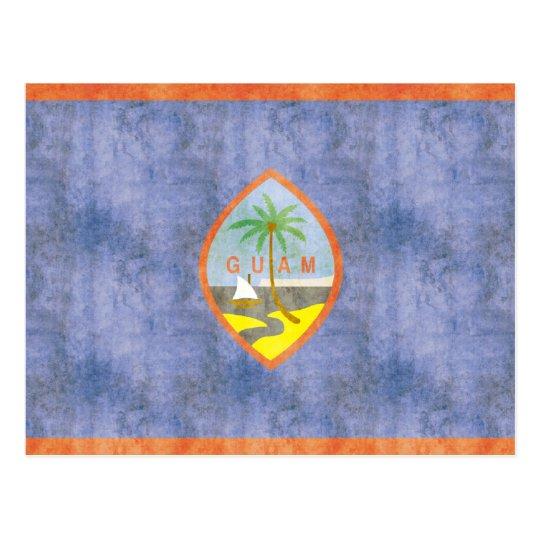 Retro Vintage Guam Flag Postcard