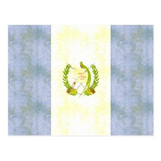 Retro Vintage Guatemala Flag Postcard
