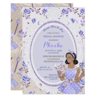 Retro Vintage Housewife 50's Bridal Shower Ethnic Card